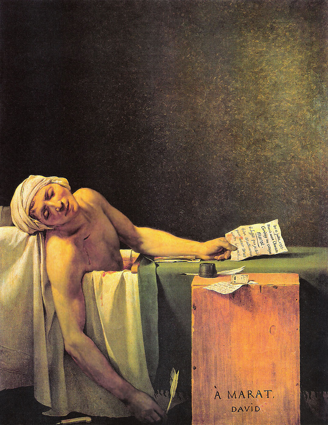 Jacques Louis David - La Mort de Marat