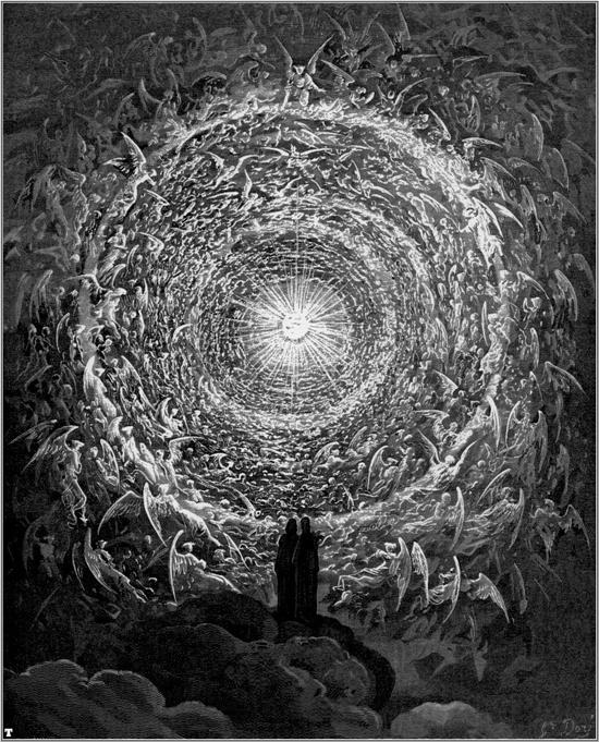 Gustave Doré, illustration pour le chant XXX du Paradis