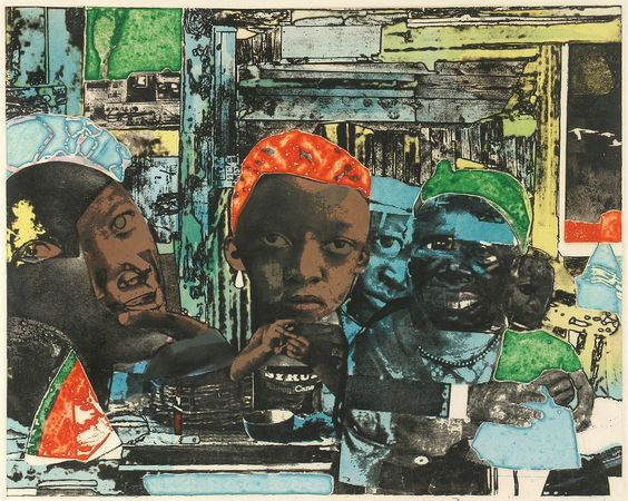 Romare Bearden - The Train