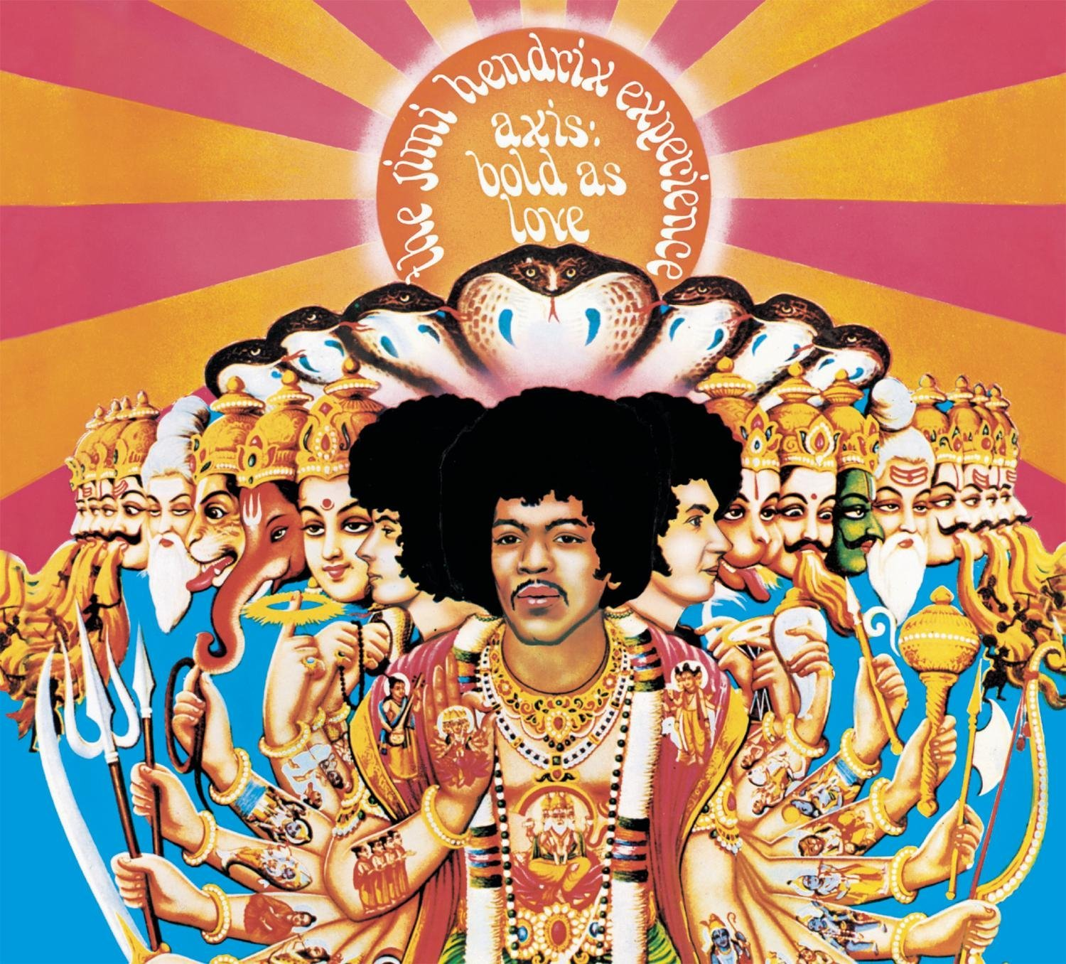 Axis : Bold as Love, The Jimi Hendrix Experience, Track Record, 1967. Illustration de David King et Roger Law